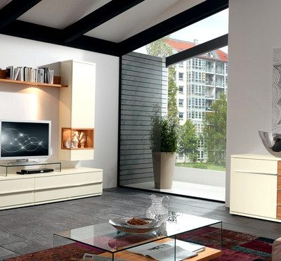 гостиная комната в стиле модерн