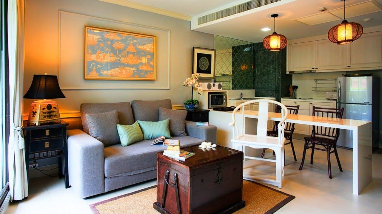 В маленькой кухне-гостиной для экономии пространства стол можно заменить барной стойкой