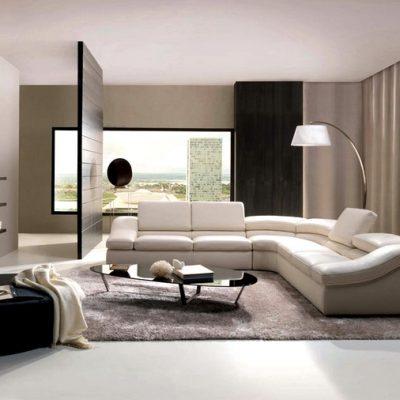 идея дизайна гостиной в стиле модерн
