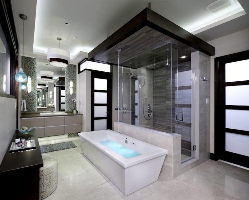 идея дизайна ванной комнаты в американском стиле