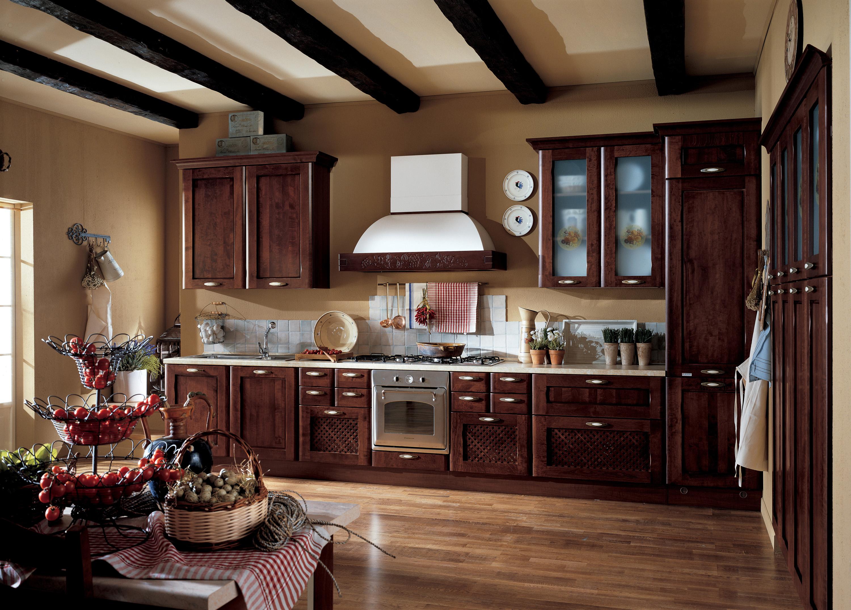 Современный стиль итальянской кухни, так же как и классический, тяготеет к натуральным материалам