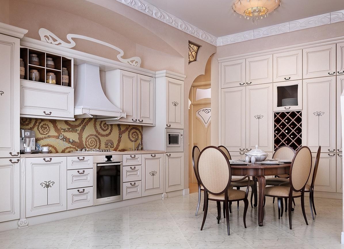 Гостиная-кухня на фото
