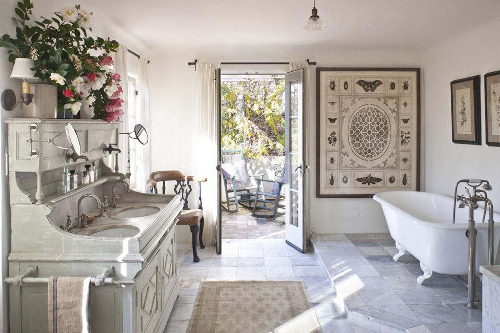 Ванная в стиле прованс в нежных оттенках