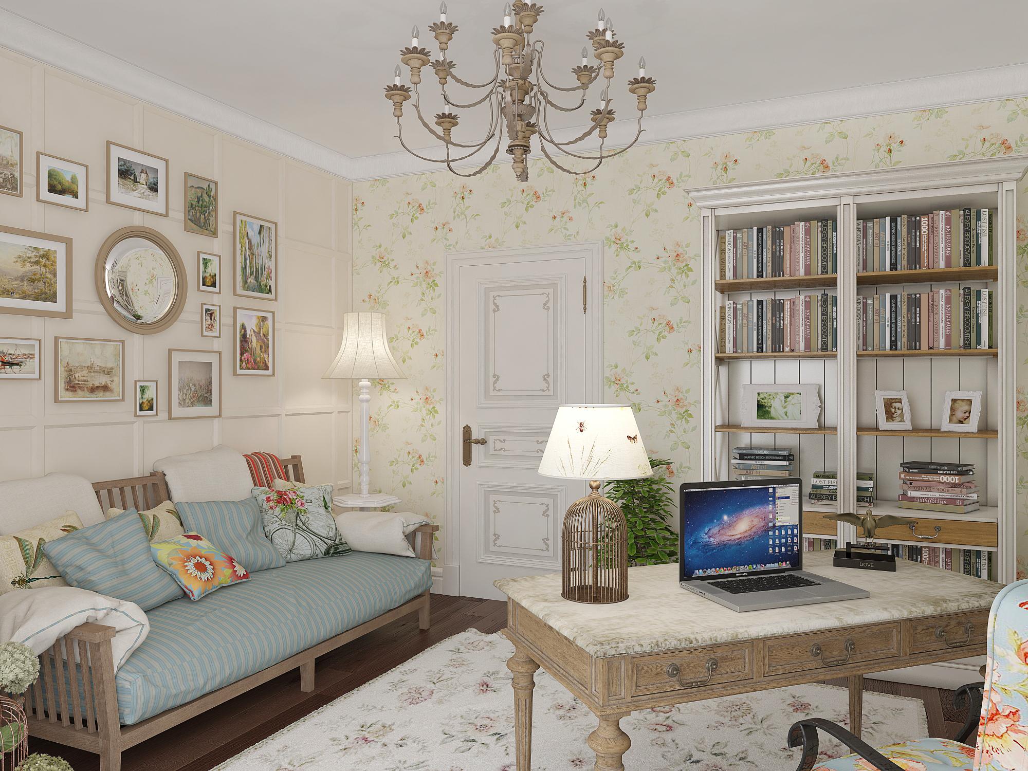 Светлый цвет в отделке и мебели позволит визуально увеличить комнату и добавить недостающего ей света
