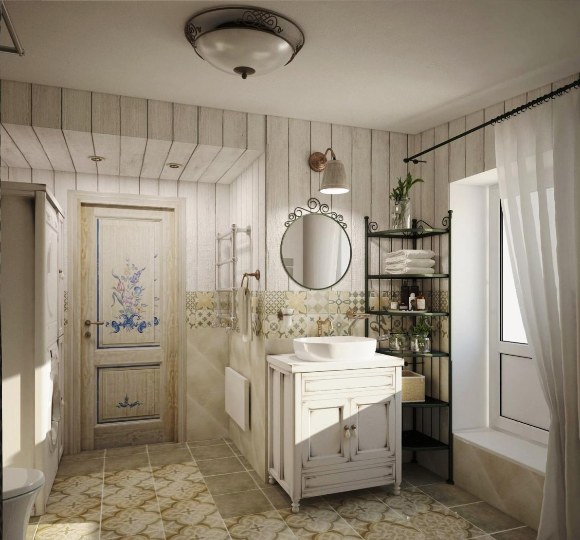 Двери в ванной в стиле прованс