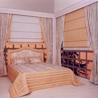 Спальня в карамельных оттенках