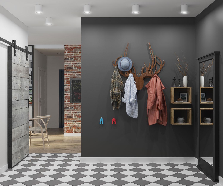 В скадинавской прихожей даже декоративные аксессуары несут практическое значение