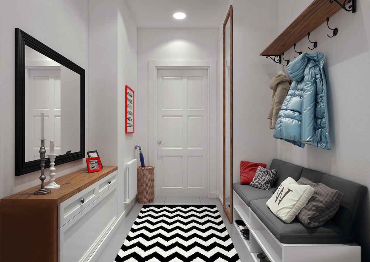 Отличным решением для небольшой прихожей станет скамейка-диван, в нутри которой расположены обувные полки