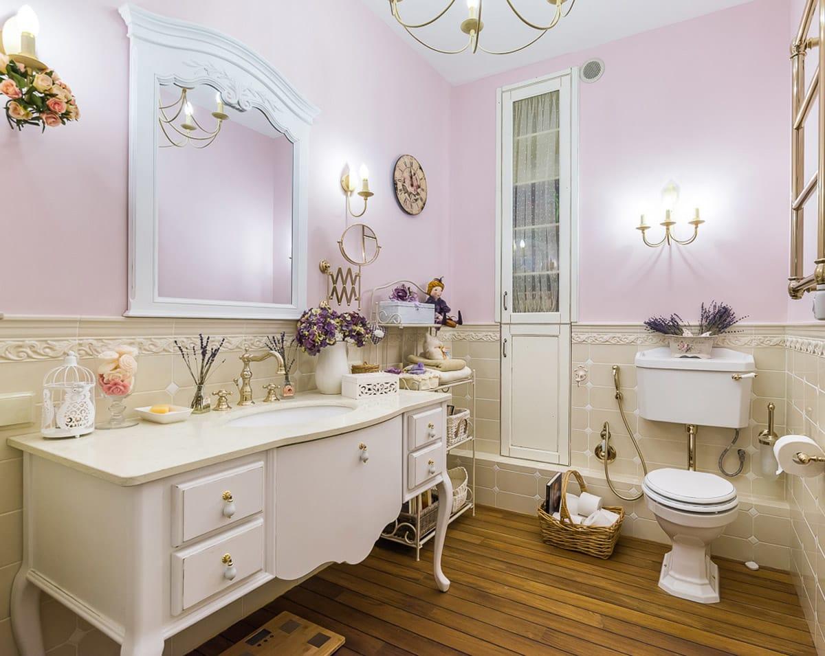 Аксессуары в ванной в стиле прованс