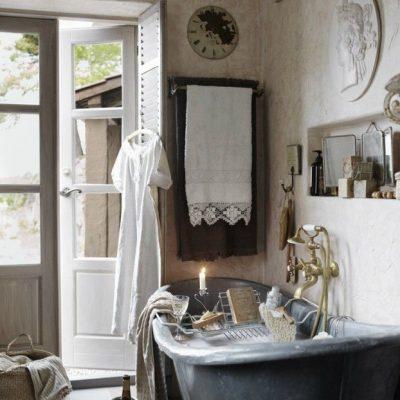Ванная в стиле классического прованса