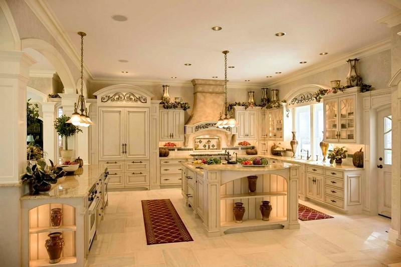 Роскошная кухня во французском стиле