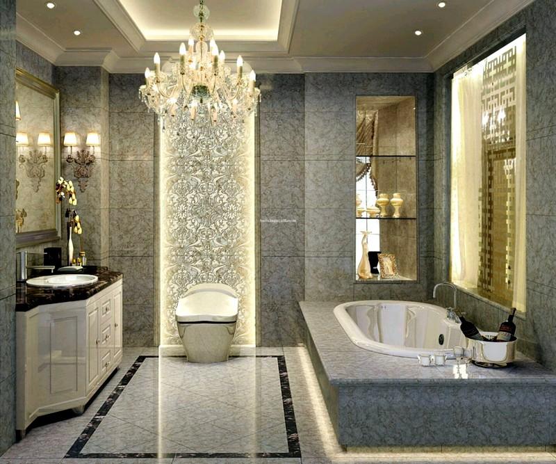 Роскошная ванная комната в американском стиле