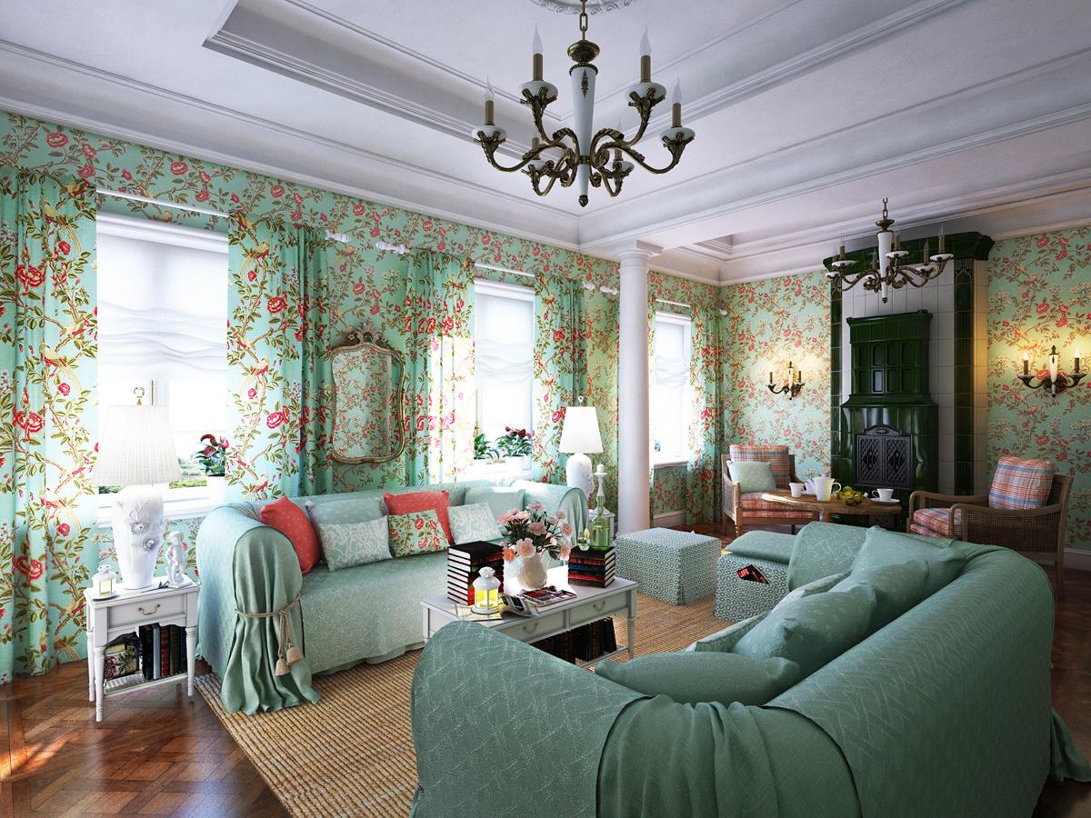 Французский интерьер может быть выдержан не только в светлых пастельных цветах, но и в ярких сочных оттенках
