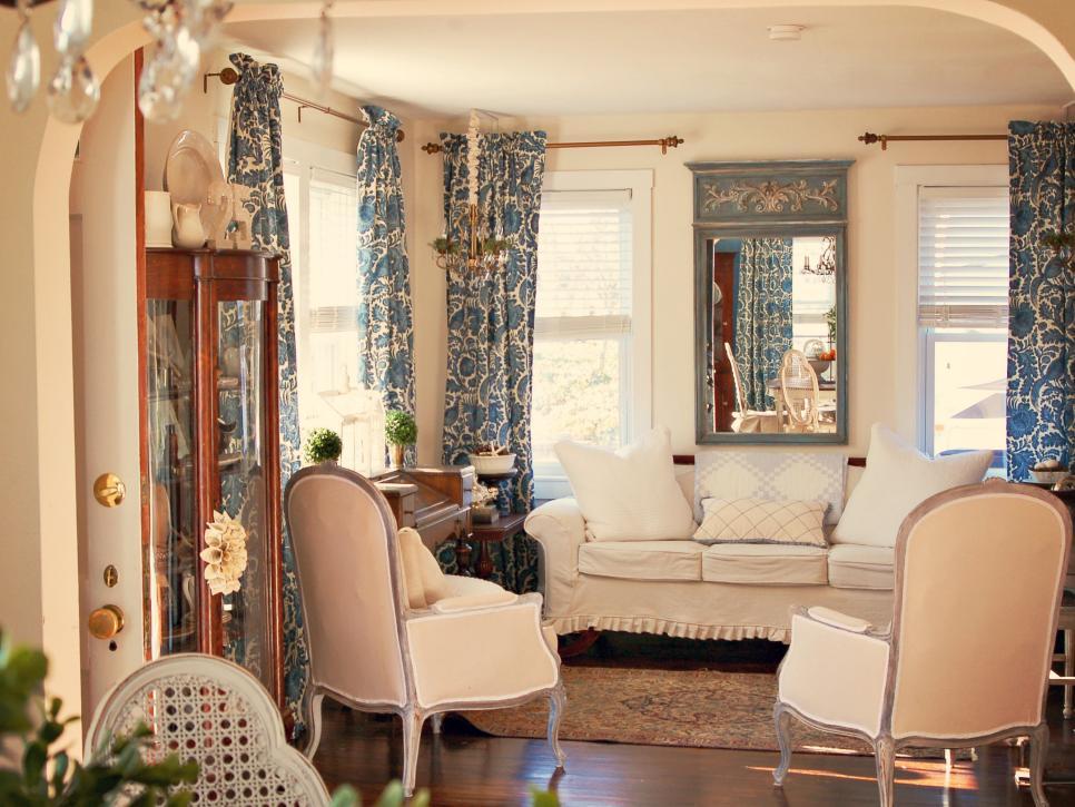 Шторы и текстиль играют важную роль в создании стиля прованс