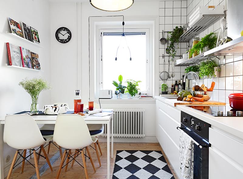 Кухня в скандинавском стиле - это всегда обилие света