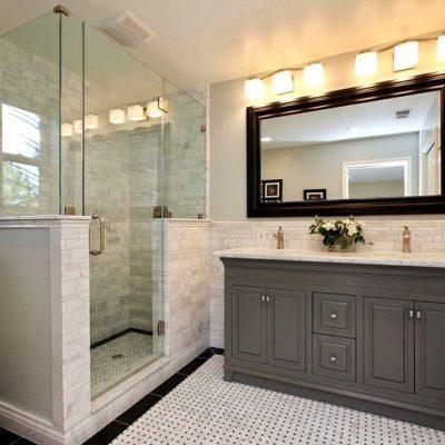 вариант оформления ванной комнаты в американском стиле