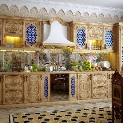 восточный стиль в интерьере кухни