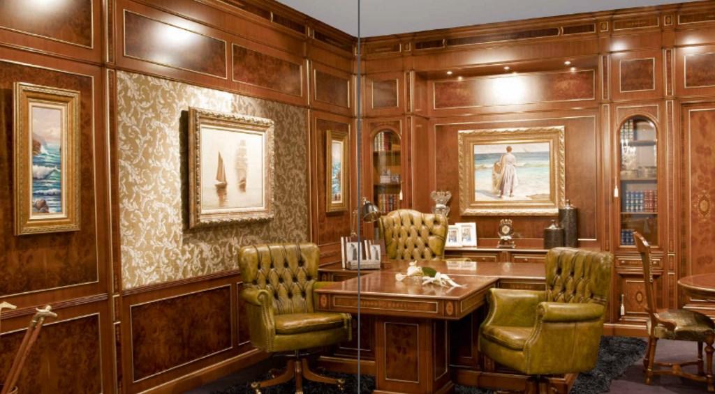 Классический дизайн кабинета руководителя
