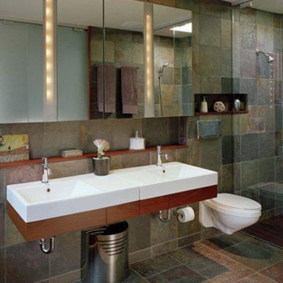 Хай тек и минимализм ванной
