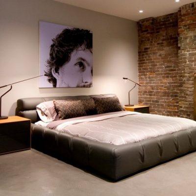 Лофт стиль спальной комнаты