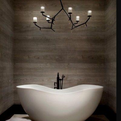 Дизайн ванной комнаты на фото примере в духе минимализма
