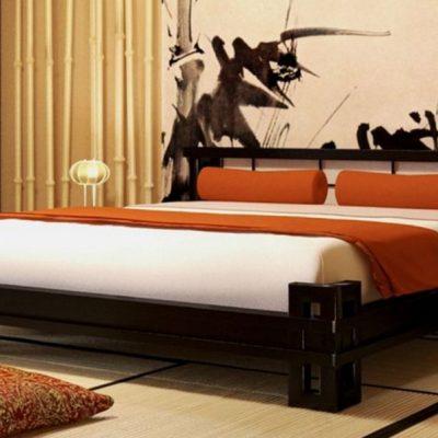 Фото спальни в японских мотивах интерьера