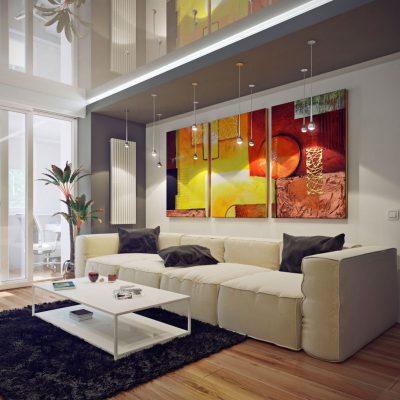 Гостиная комната с картиной