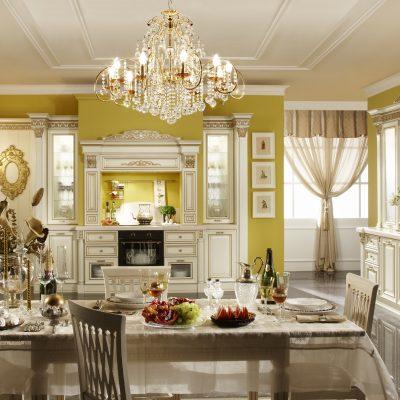 Кухня барокко интерьера на фото примере