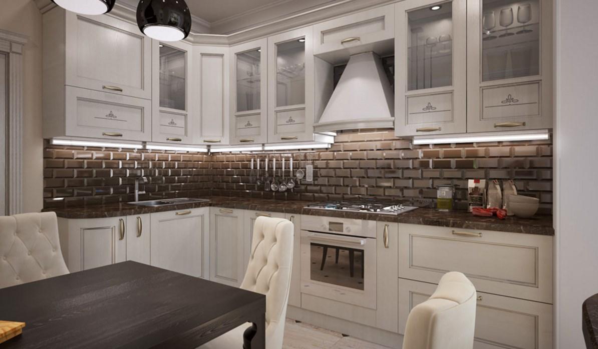 Интерьер кухни на фото неоклассика стиля