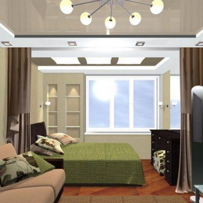 Лаконичная гостиная комната хай тек стиля в интерьере