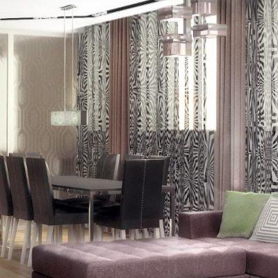 Лаконичная гостиная комната хай тек стиля