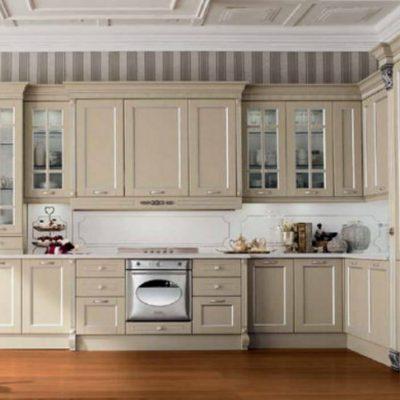 Интерьер кухни на фото неоклассика стиля на примере