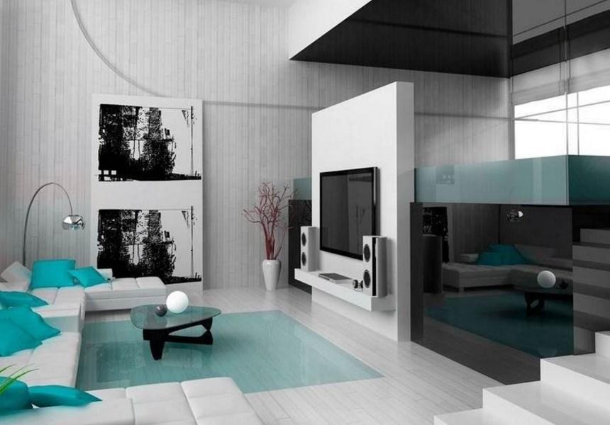 фото гостиной хай тек стиля в интерьере