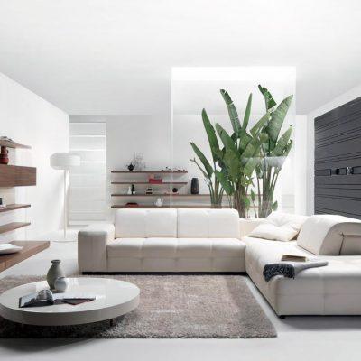 фото гостиной хай тек стиля в интерьере на примере