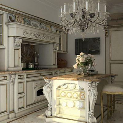 Столовая кухня барокко стиль