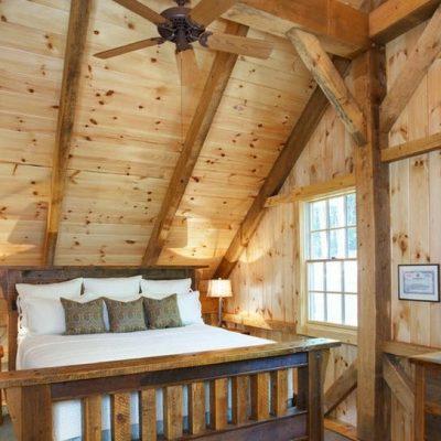 Спальня шале стиля