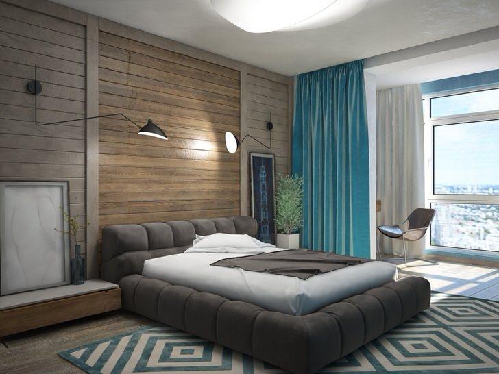 Дизайн спальни в экостиле