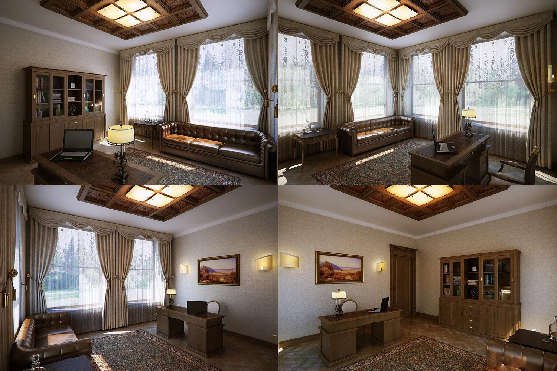 Отделка помещения шторами