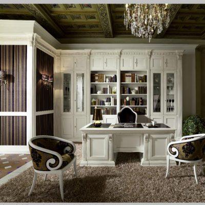 Светлая стенка для кабинета