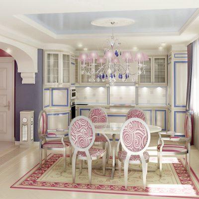 Мебель кухонная барокко стиля
