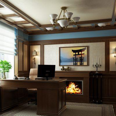 Отделка кабинета в классическом стиле