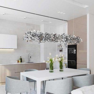 Светлая кухня в белых тонах на фото на фото