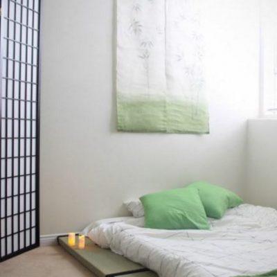 Оформление спальни в японском вкусе интерьера