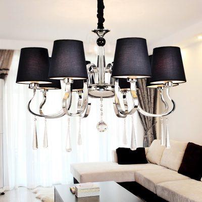 Светильники в интерьере гостиной современности в интерьере на фото примере