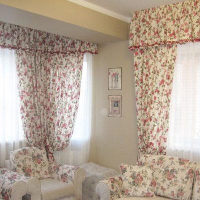 Цветастые шторы