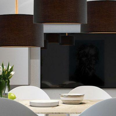 Светильники в интерьере гостиной современности в интерьере