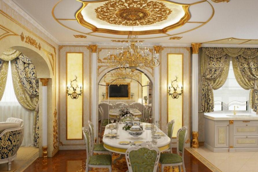 Пример кухни интерьера барокко
