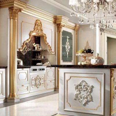 Пример кухни интерьера барокко стиля