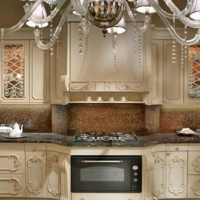 Пример кухни интерьера барокко стиля на примере