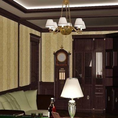 Детали кабинета в интерьере классического стиля